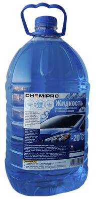 Жидкость для стеклоомывателя зимняя! 4л готовая -20°С, с чистящ.добавками, запах лимона